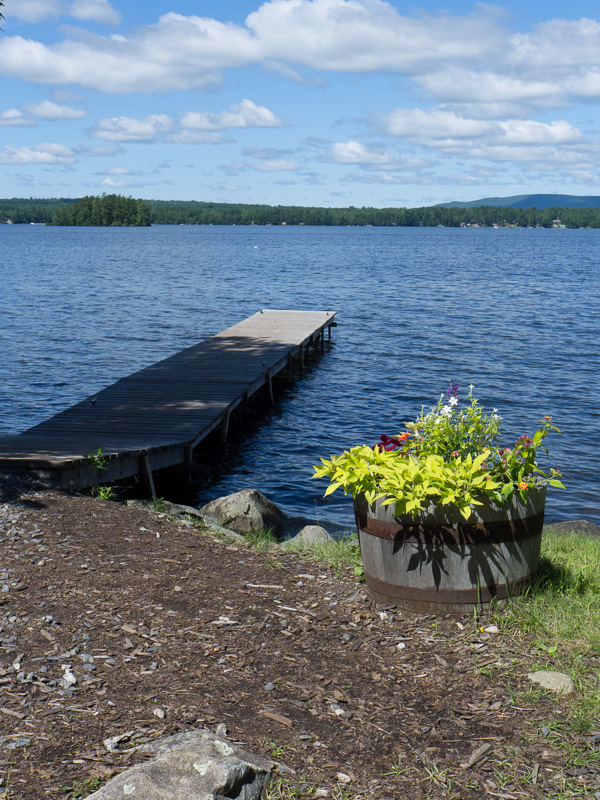 Our mainland dock as seen last summer. It's much too narrow for our needs.