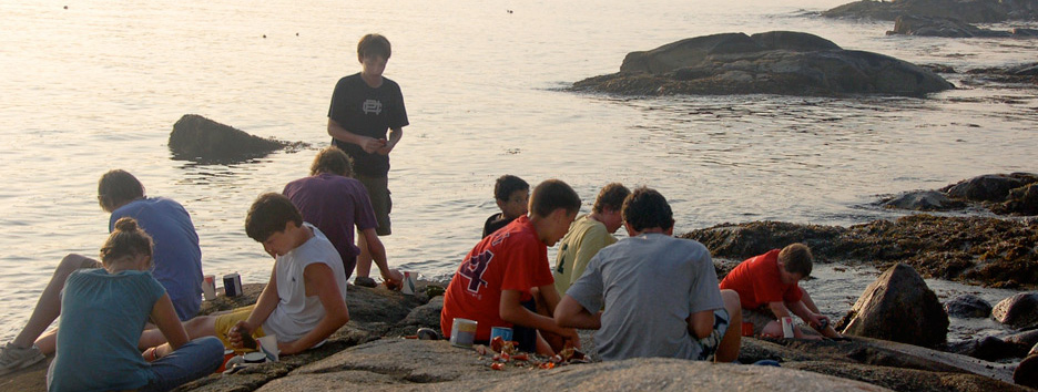 An activity at Pine Island Camp, a boys summer camp in Maine.